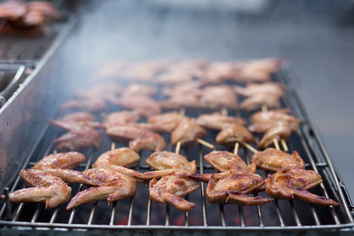 BBQ chicken, Gai Yaang, Thai street food