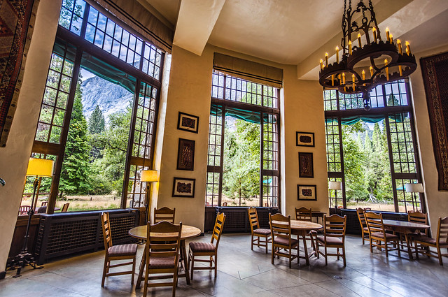 Solarium in the Ahwahnee Hotel