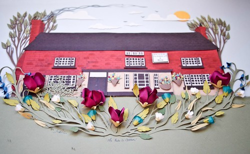 Paper-Sculpture-Rose-&-Crown-Restaurant