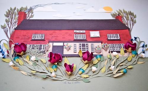 Paper-Sculpture-Rose-&-Crown-Restaurant