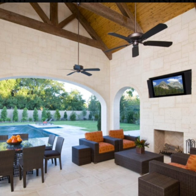 Large Patio with landscaped views