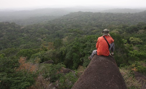 Jesse on an inselberg outlook