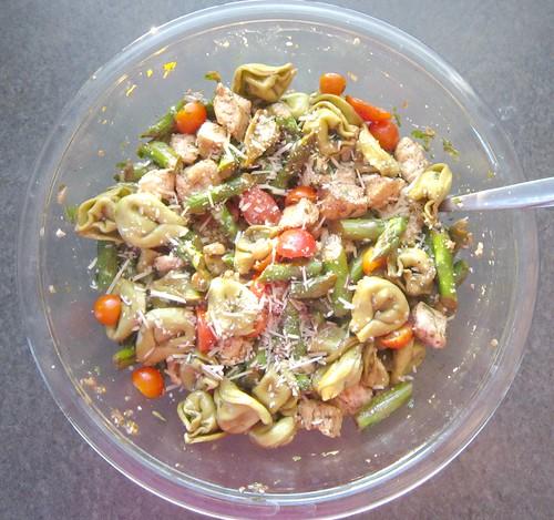 Chicken & Tortellini Salad with Basil-Balsamic Vinaigrette