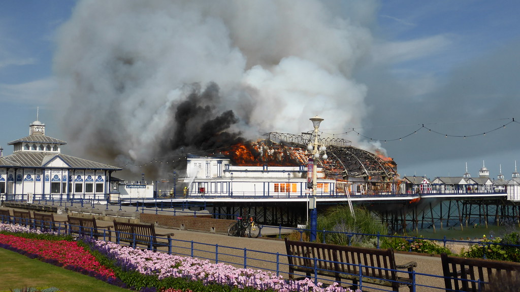 Eastbourne Pier Fire. 30th July 2014