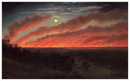 009- Fuego entre el Monte elefante y Timboon -1857 Eugen von Guerard- - Fine Art Gallery Ballarat