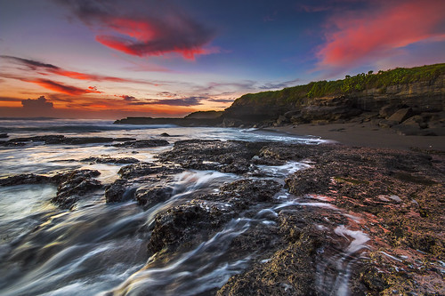 sunset bali motion color beach beautiful indonesia twilight waves dusk tanahlot melasti melastibeach