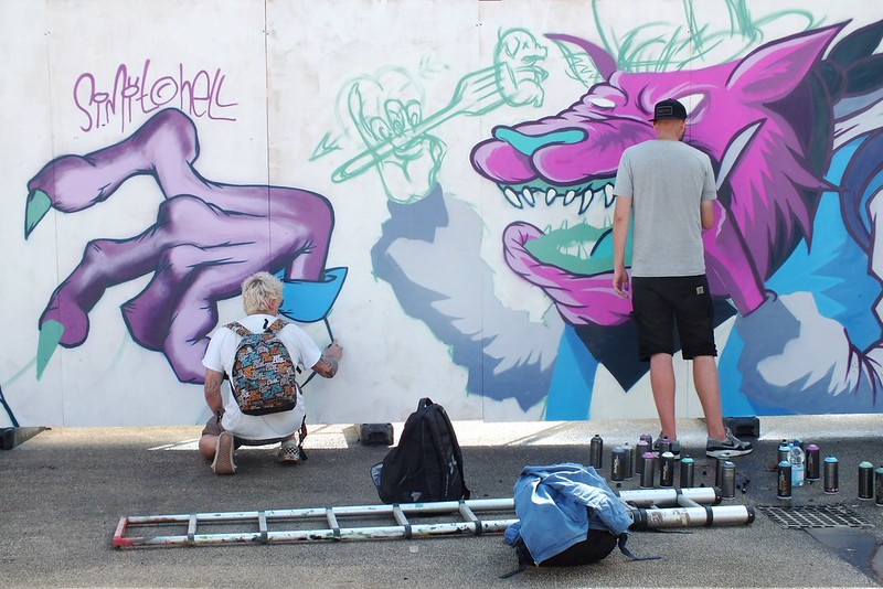 Captain Kris and crew at The Gloucester Paint Jam 2014
