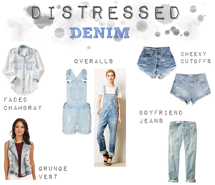 Distressed Denim.