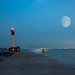 Lighthouse and Moonrise by Botography1