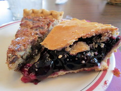 Blueberry Pie And Pecan Chocolate Chip Pie.