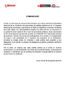 COMUNICADO ACLARATORIO FINAL PARA WEB