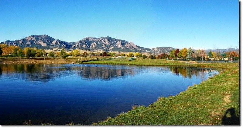 Flatirons from East Boulder Community Center 2