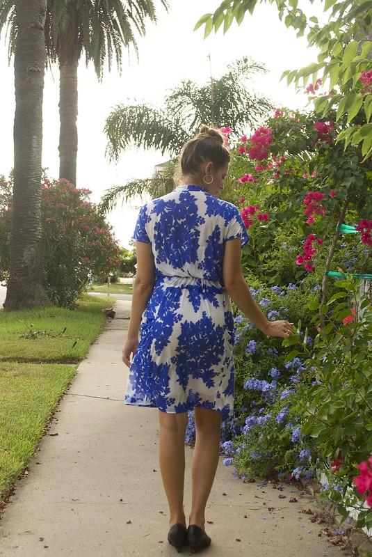 Mood Fabrics | Thakoon Amparo Blue & White Viscose Jersey | Vogue1287