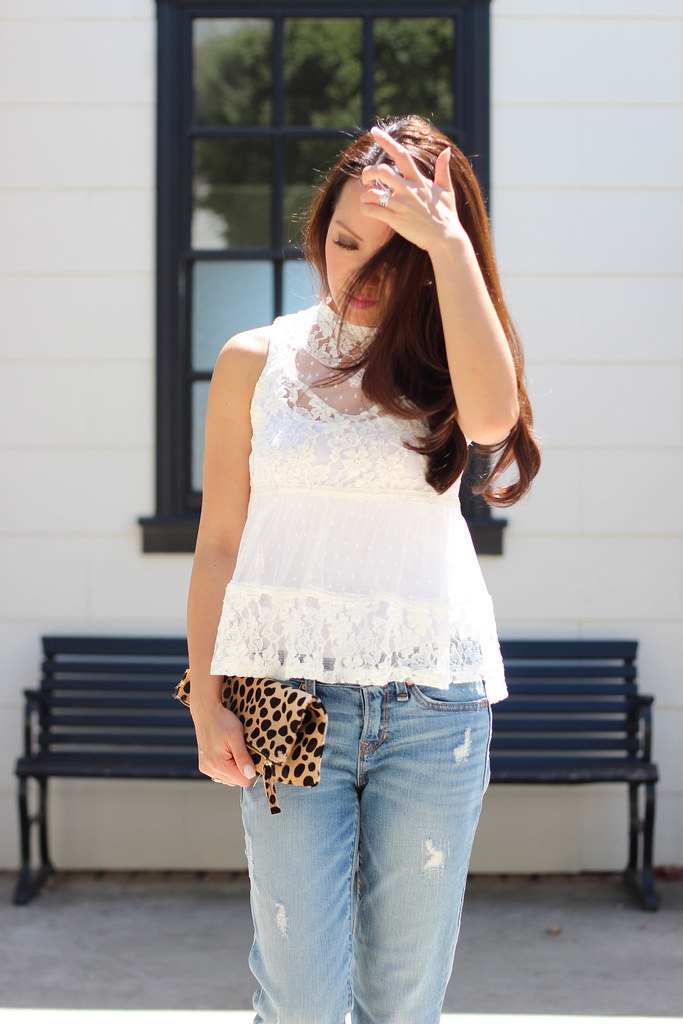 Distressed Denim and Lace-7