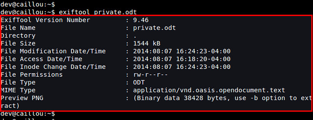 How to remove file metadata for your privacy on Linux - Xmodulo