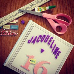 Getting ready for my daughter's sweet 16 tomorrow night! Every gIrl needs her own hashtag #JacquelinesSweet16