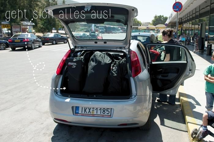 Fiat Grande Punto voll bepackt