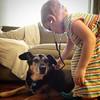 Dr. Z on the job #stethoscope #dog #kid #futurevet