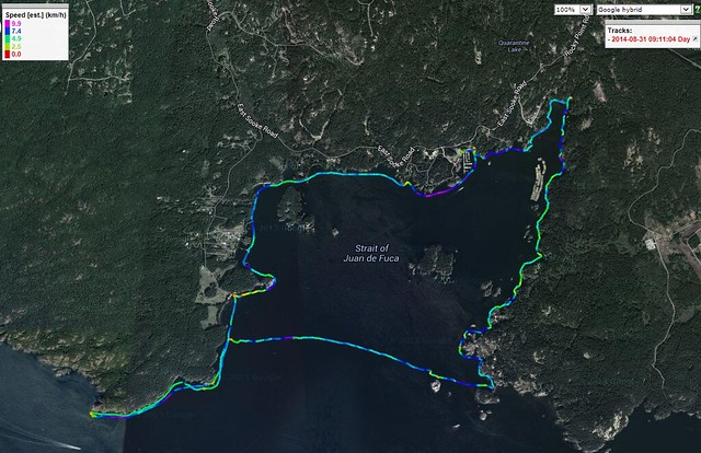 Becher Bay to Bentinck I Area - Aug 31, 2014 - GPSV
