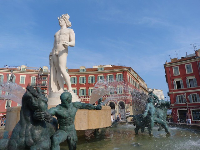 Place Massena de Niza (Costa Azul, Francia)