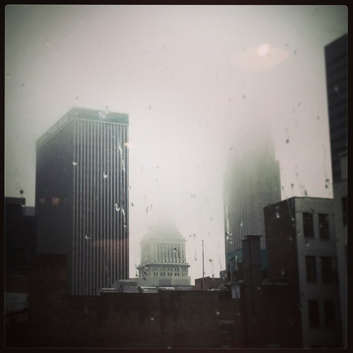 A rainy morning in downtown Cincinnati...