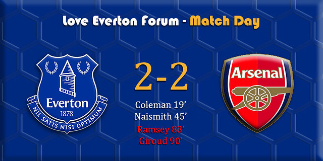 Everton v Leicester banner