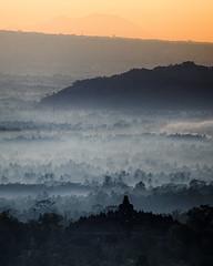 Borobudur Sunrise - HDR version