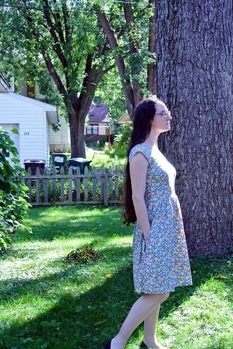 blue floral dress 017