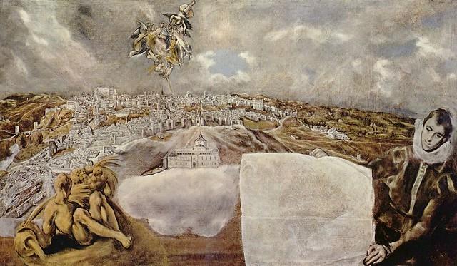Vista y Plano de Toledo de el Greco (1608). Museo del Greco, Toledo.