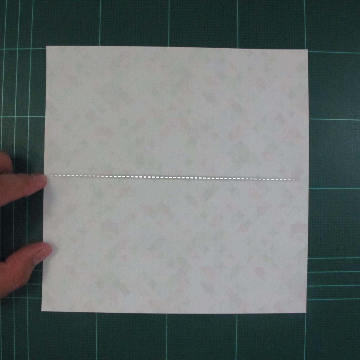 วิธีพับกล่องของขวัญแบบมีฝาปิด (Origami Present Box With Lid) 002