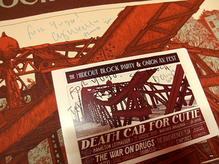 Death Cab for Cutie Hideout signed poster and flyer