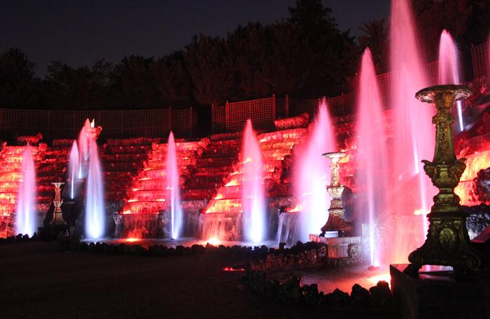 versailles, grandes eaux nocturnes, chateau de versailles