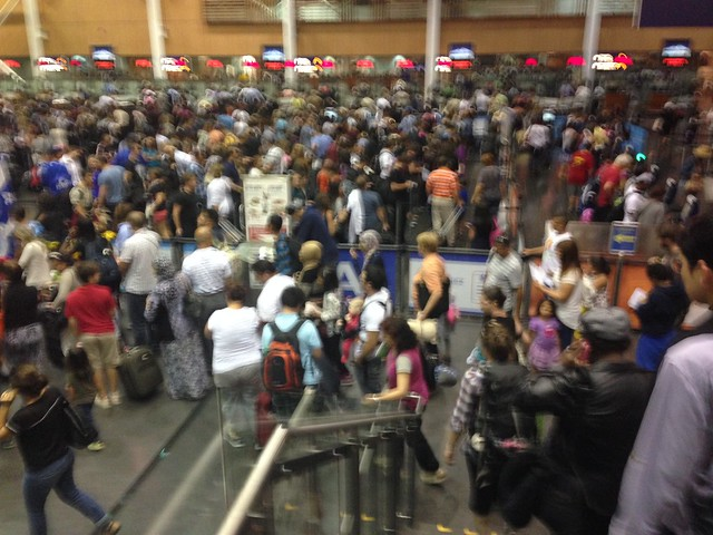 Montreal-Trudeau Customs Line