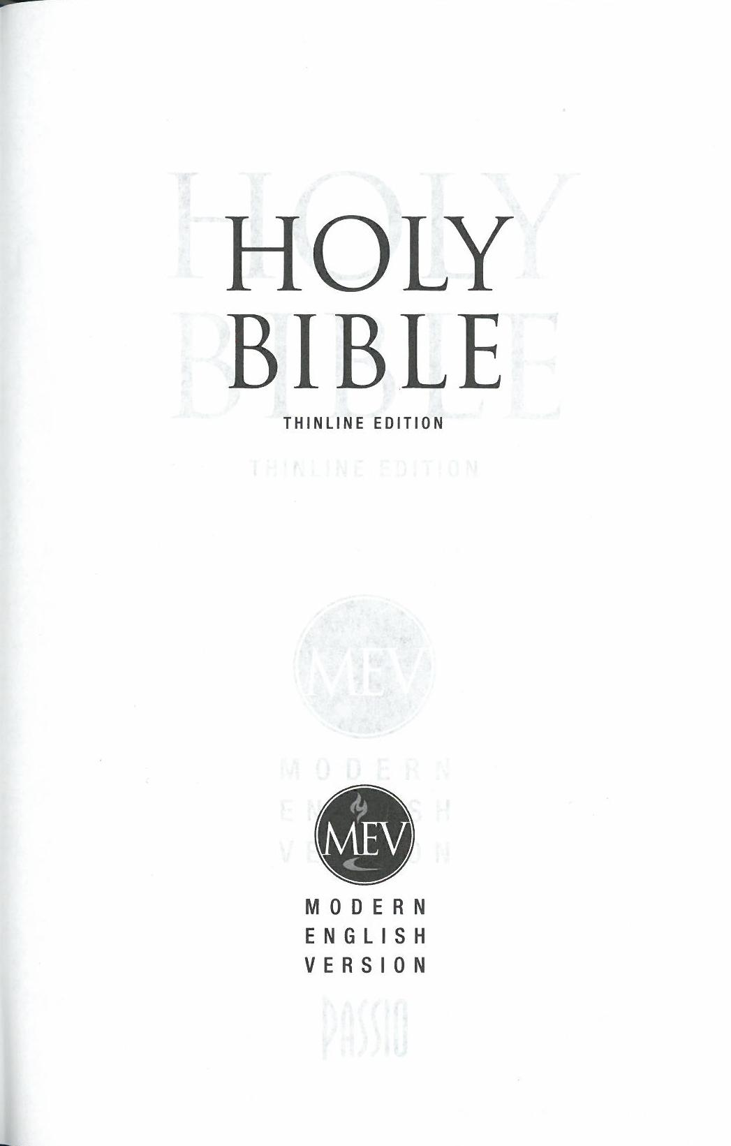 Modern english version bible charisma house