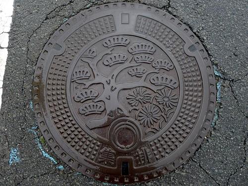 Matsushige Tokushima, manhole cover 2 (徳島県松茂町のマンホール2)