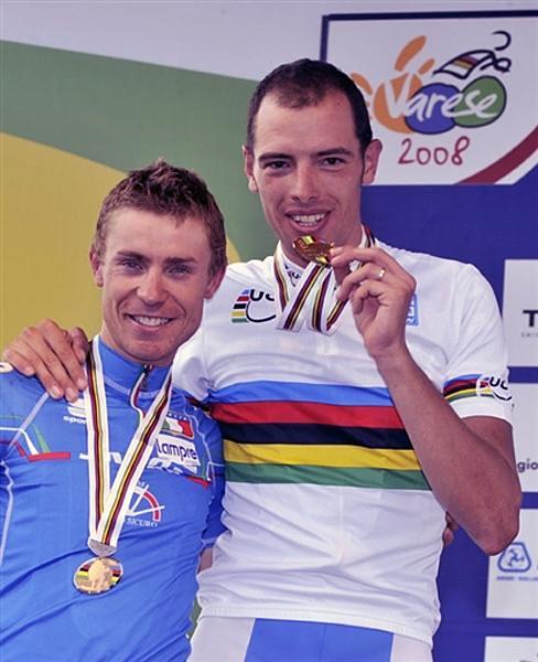 Ballan (oro) e Cunego (argento) ai mondiali 2008