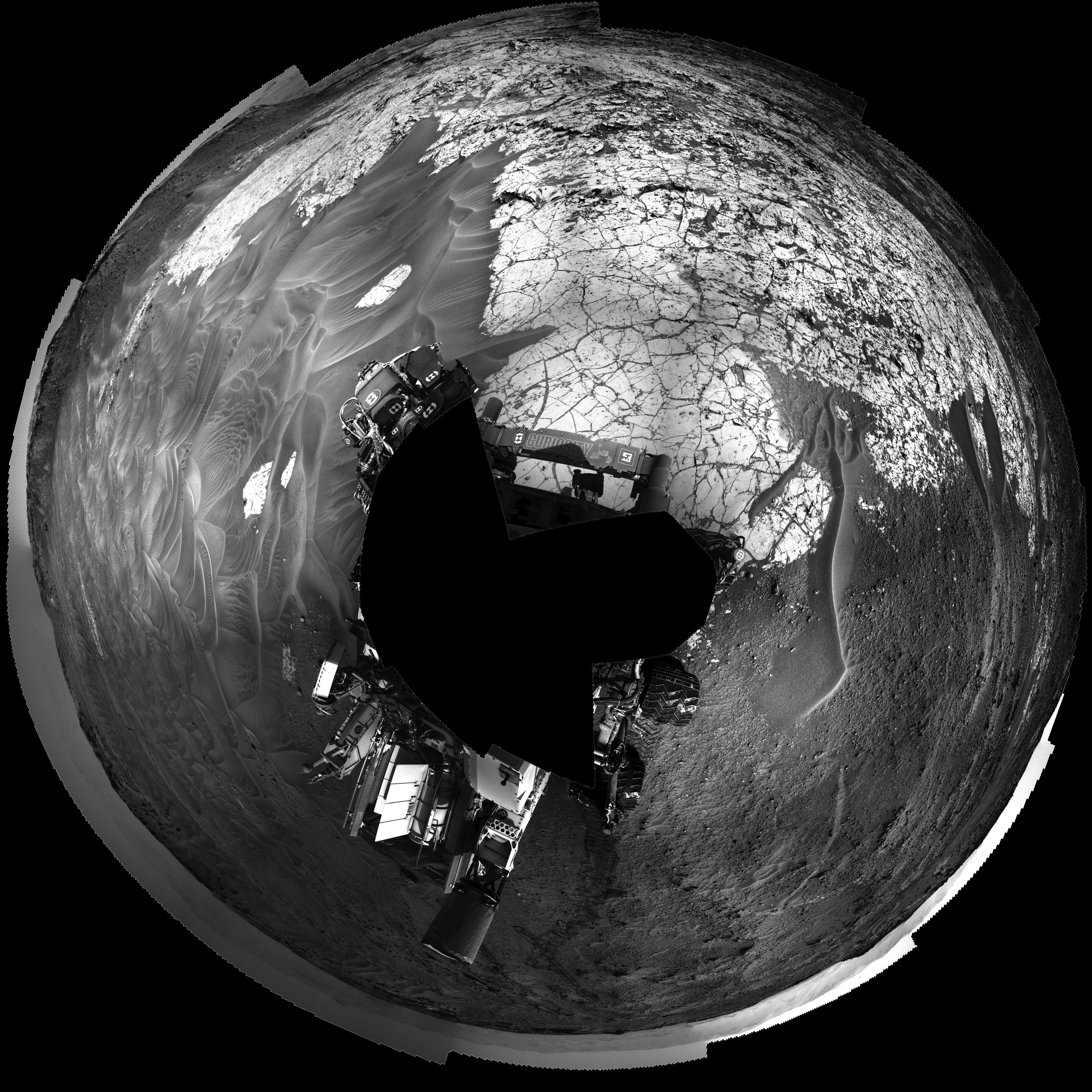 Curiosity Navcams left  sol 753 - Pahrump Hills