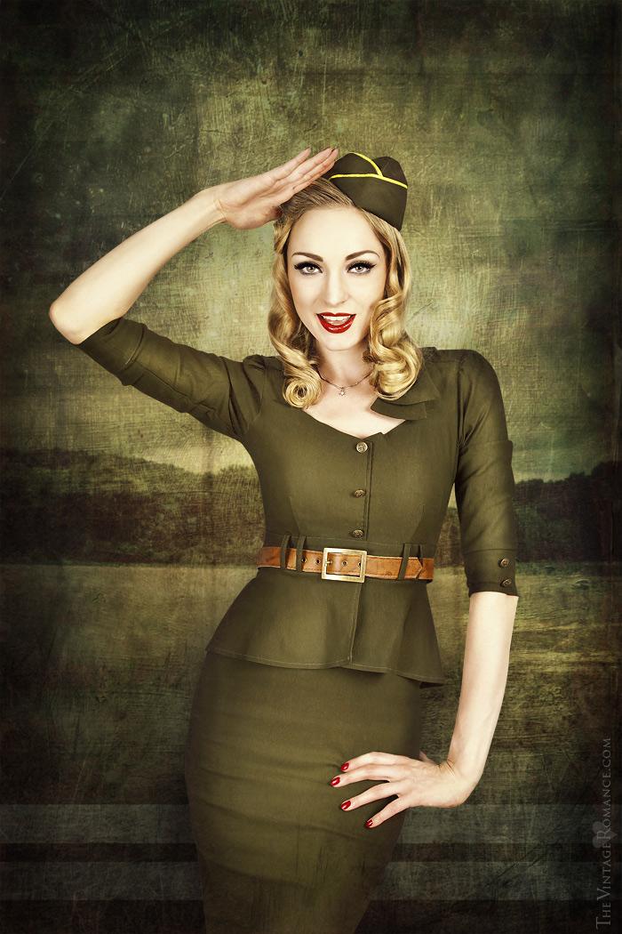 Stop Staring!: 1940's uniform dress - The Vintage Romance