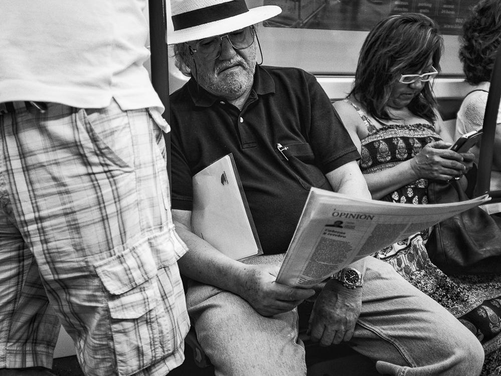 Reading on the underground
