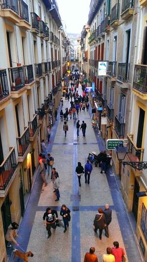 Street view old town San Sebastian