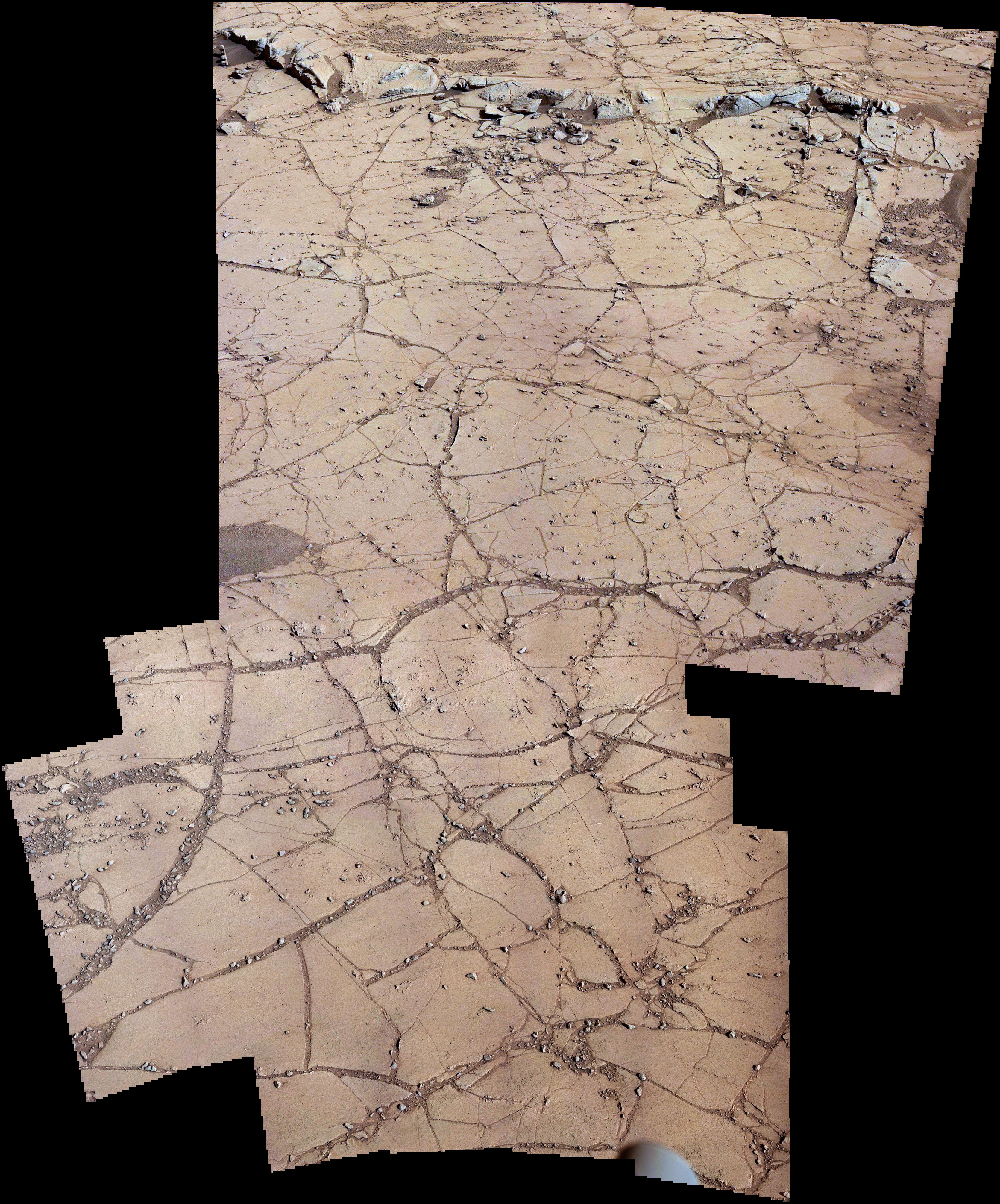 Curiosity MastCam left & right sol 753 - Pahrump Hills