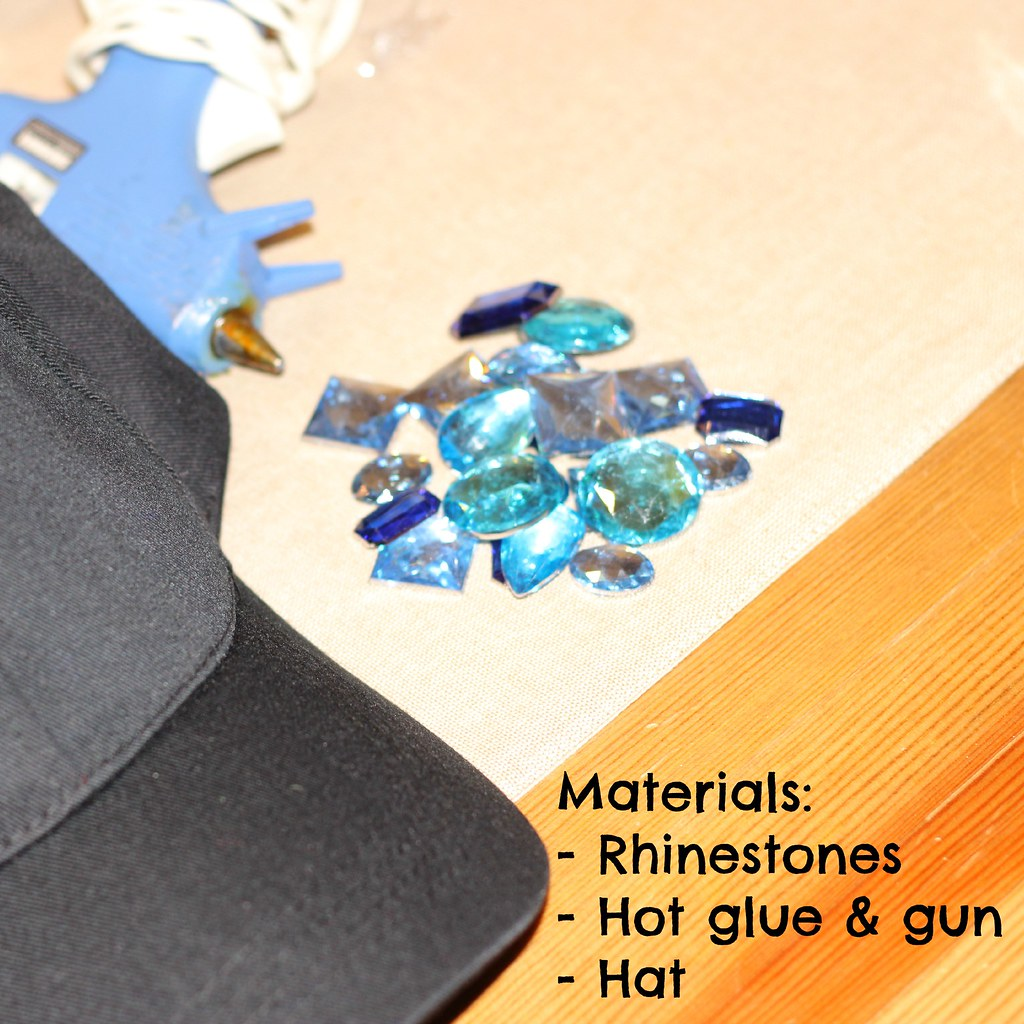 DIY Rhinestone Baseball hat 2