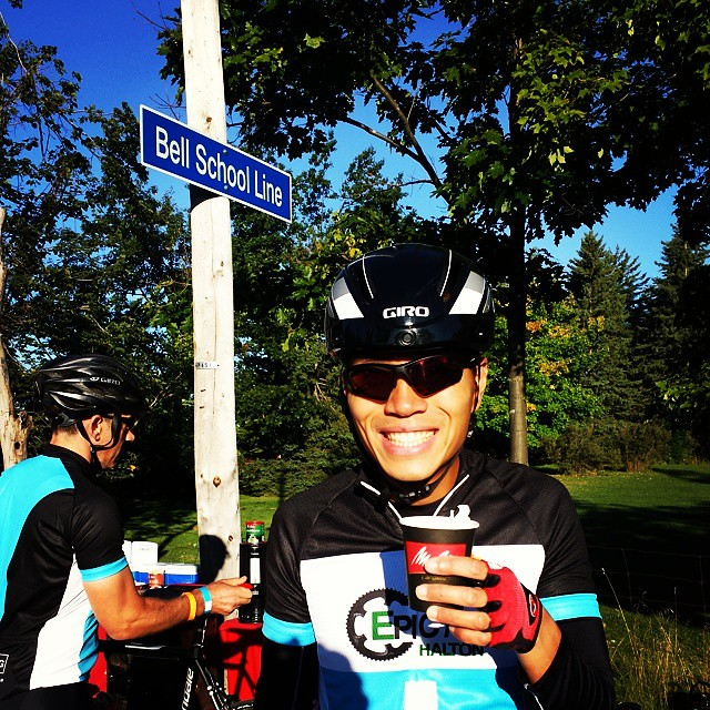 andre gets his beloved coffee before the GTA Gran Fondo. 140km here we come!