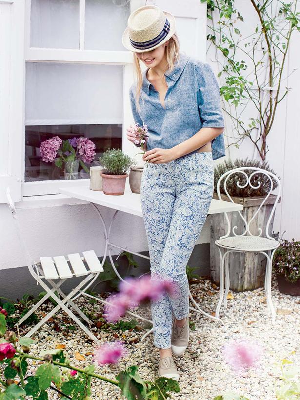 1 floral skinny jeans