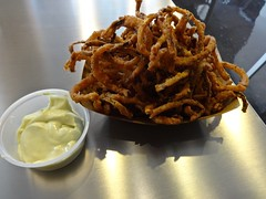 fried red onions at BCT Belly Burgers in San Franc…