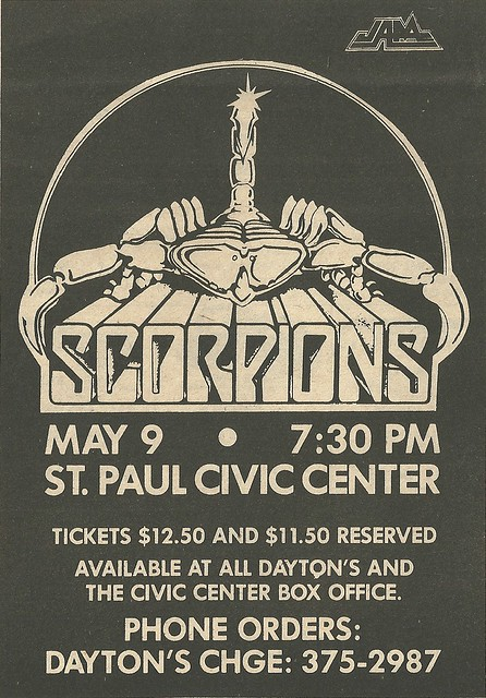 05/08/84 Scorpions/ Bon Jovi @ St. Paul Civic Center, St. Paul, MN (ad 1)