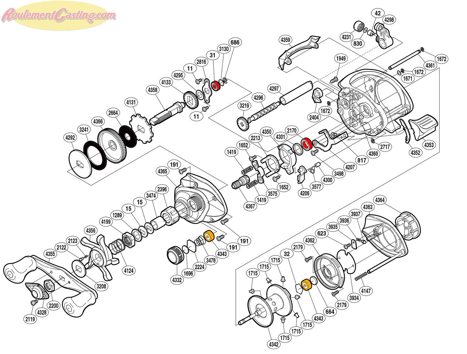 Schéma Shimano 12 Curado 201G7