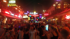 Pub Street by night. Siem Reap, Cambodia
