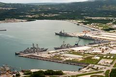 160926-N-NT265-121 APRA HARBOR, Guam (Sept. 26, 2016) Ships from Carrier Strike Group Five including, USS Barry (DDG 52), USS Benfold (DDG 65), USS Chancellorsville (CG 62), USS Curtis Wilbur (DDG 54), USS McCampbell (DDG 85) as wells as USS Stethem (DDG