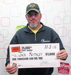 Jack Keithley - $1,000 25,000th Raffle Promotion